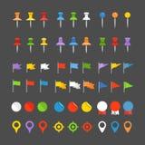 Perni, bandiere ed insegne di navigazione illustrazione vettoriale