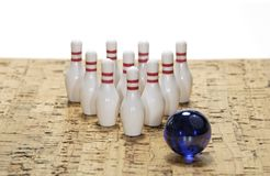 Perni di bowling Fotografie Stock