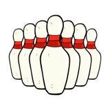 perni di bowling comici del fumetto Immagine Stock Libera da Diritti