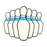 perni di bowling comici del fumetto Fotografie Stock Libere da Diritti