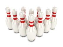 perni di bowling 3d Fotografia Stock