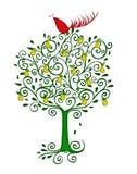 Pernice in un albero di pera Fotografia Stock