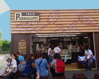 Pernigotti ice cream, Expo 2015, Milan Royalty Free Stock Photography