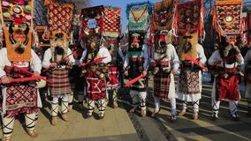 International Festival of Masquerade Games Surva in Pernik stock video