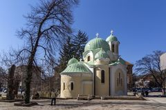 Church of John of Rila St. Ivan Rilski in city of Pernik, Bulgaria. PERNIK, BULGARIA - MARCH 12, 2014: Church of John of Rila St. Ivan Rilski in city of Pernik stock images