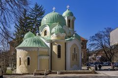 Church of John of Rila St. Ivan Rilski in city of Pernik, Bulgaria. PERNIK, BULGARIA - MARCH 12, 2014: Church of John of Rila St. Ivan Rilski in city of Pernik stock image
