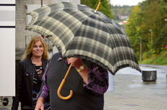 Pernilla Nina Elisabeth Wahlgren. Artist and a singer in Sweden stock photo