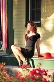 Perno con clase de los años 40 encima de la muchacha Fotografía de archivo libre de regalías