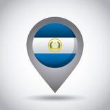 perno de la bandera de El Salvador Imágenes de archivo libres de regalías