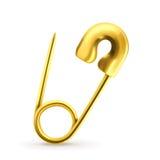 Perno de seguridad del oro ilustración del vector