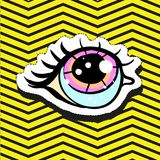 Perno del distintivo della toppa di modo con l'occhio Immagini Stock