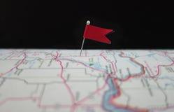 Perno del mapa Imagen de archivo libre de regalías
