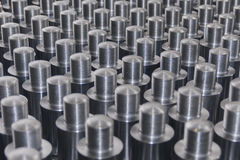 Perno di metallo con il filo, struttura Immagine Stock