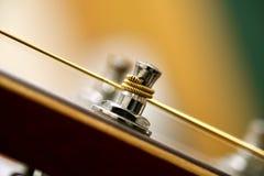 Perno di metallo della chitarra Fotografie Stock Libere da Diritti