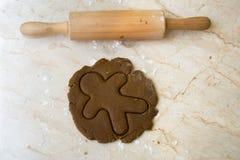 Perno di rotolamento e pasta del biscotto Fotografia Stock Libera da Diritti