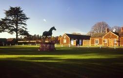 Perno di Sandringham della statua del cavallo (cachi) Immagine Stock