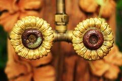 Perno dorato del fiore. Immagine Stock Libera da Diritti