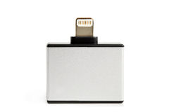 30 perno e micro USB ad un adattatore di 8 perni Fotografia Stock Libera da Diritti