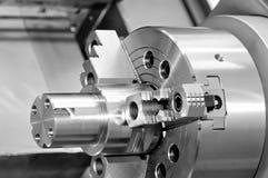 Perno ed ingranaggio di metallo d'acciaio con una filettatura Immagine Stock Libera da Diritti