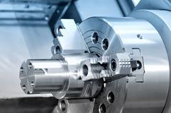 Perno ed ingranaggio di metallo d'acciaio con una filettatura Fotografie Stock