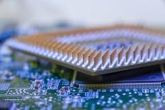Perno a macroistruzione del CPU Immagini Stock