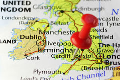 Perno rojo en Cardiff, País de Gales, Reino Unido fotos de archivo libres de regalías