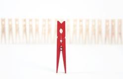 Perno rosso Immagine Stock