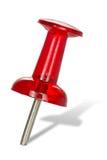 Perno rosso di spinta Fotografia Stock