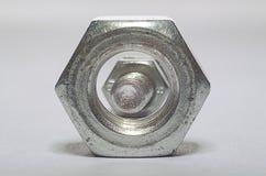 Perno y nuez Imagen de archivo libre de regalías