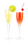 Pernod Fizz and Millennium alcohol cocktails Stock Images