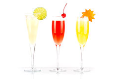 Pernod Fizz, Millennium and Orange alcohol cocktail Royalty Free Stock Images
