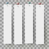 Pernos blancos de las banderas del marco transparentes Foto de archivo