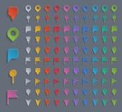 Pernos coloridos de la navegación Imagen de archivo libre de regalías