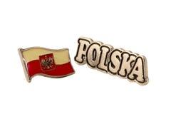 Pernos de la solapa de Polska fotografía de archivo