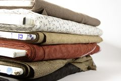 Pernos de la tela para acolchar o coser Foto de archivo libre de regalías