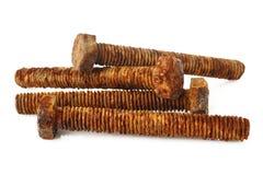 Pernos oxidados del metal Fotografía de archivo libre de regalías