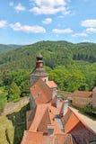 pernstejn замока взгляд городка республики cesky чехословакского krumlov средневековый старый Стоковые Изображения RF