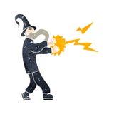 período retro da carcaça do feiticeiro dos desenhos animados Imagem de Stock