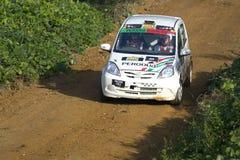 Perodua rally car on track Royalty Free Stock Image