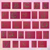 Peroliza letras de formação Imagem de Stock