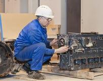 peron przemysłowej Silnik naprawa Obraz Royalty Free