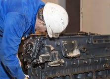 peron przemysłowej Silnik naprawa Zdjęcia Royalty Free