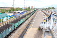 Peron railway Royalty Free Stock Photography