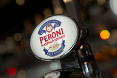 PERONI BEER PUMP IN BAR Stock Photo