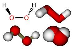 Perossido di idrogeno (H2O2) Immagini Stock
