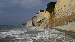 Peroulades cliffs , Corfu , Greece Stock Images