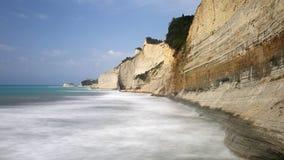 Peroulades klippor, Korfu, Grekland Arkivfoto