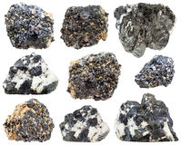 Perovskite and knopite crystals isolated Stock Photo