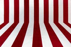 Perpendicular line on fabric texture. Red and white perpendicular line on fabric texture Stock Image