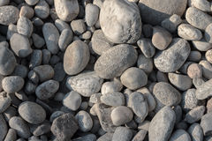 Perpendicular photo of white river pebbles Stock Photography